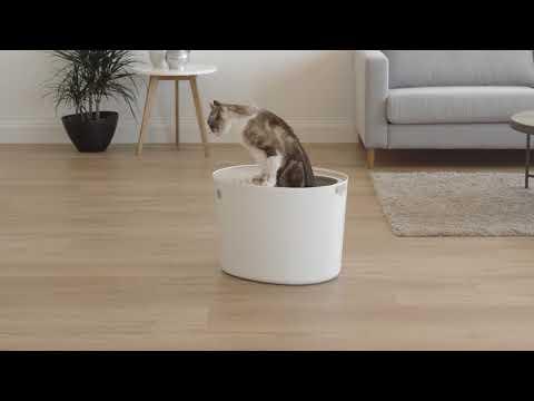 IRIS USA Top Entry Cat Litter Box